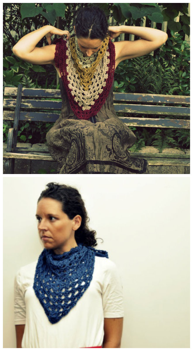 how to crochet a triangle scarf