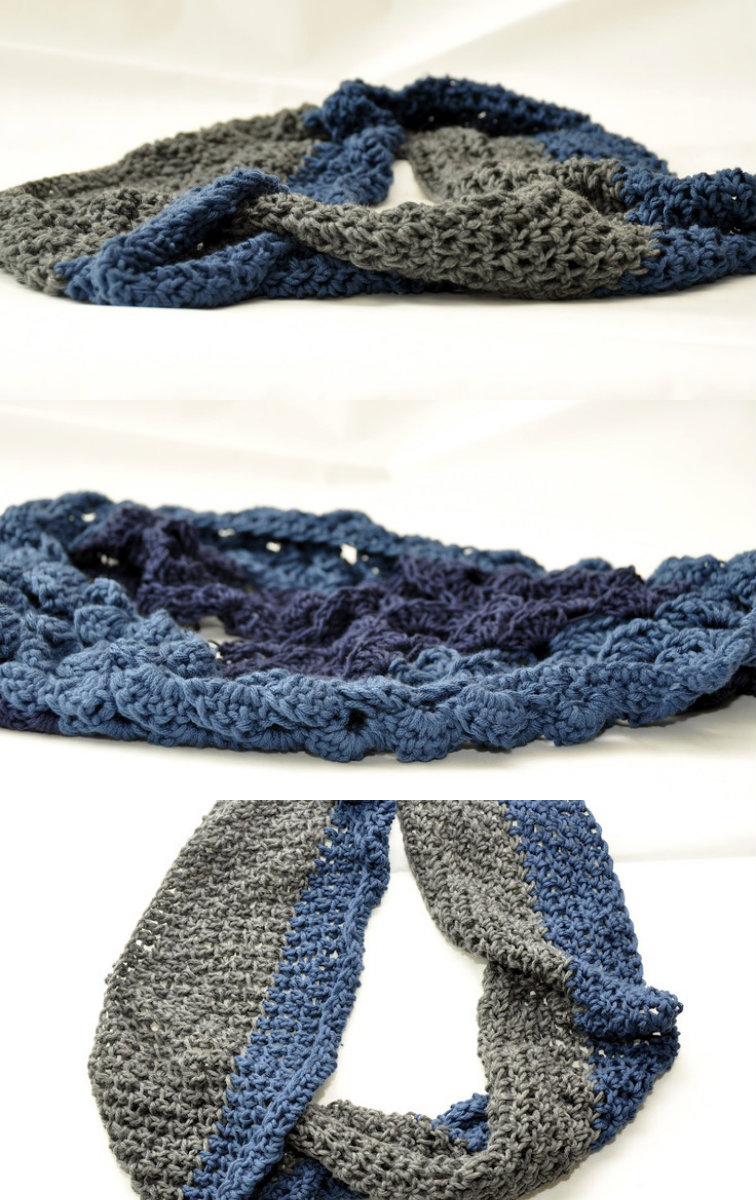 how to make a crochet cowl
