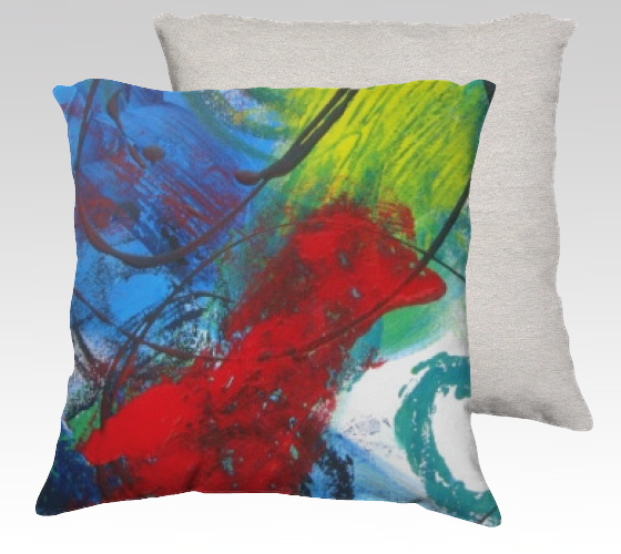 amber kane painted pillow