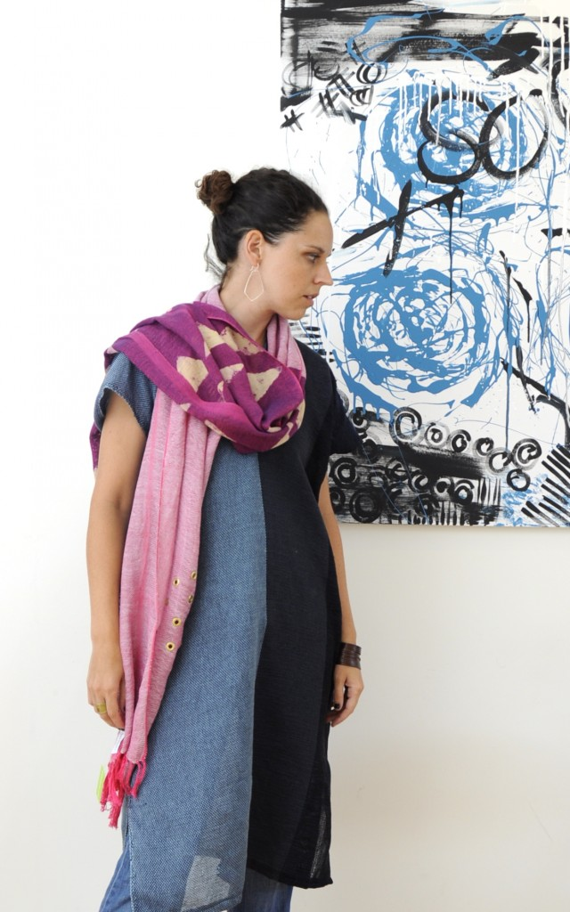 one-of-a-kind handwoven scarf by amber kane
