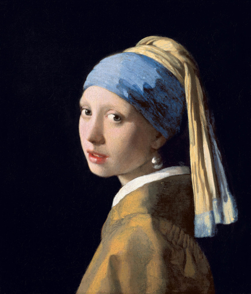 Girl with a Pearl Earring is an oil painting by 17th-century Dutch painter Johannes Vermeer. It is a tronie of a girl with a headscarf and a pearl earring. The painting has been in the collection of the Mauritshuis in The Hague since 1902.