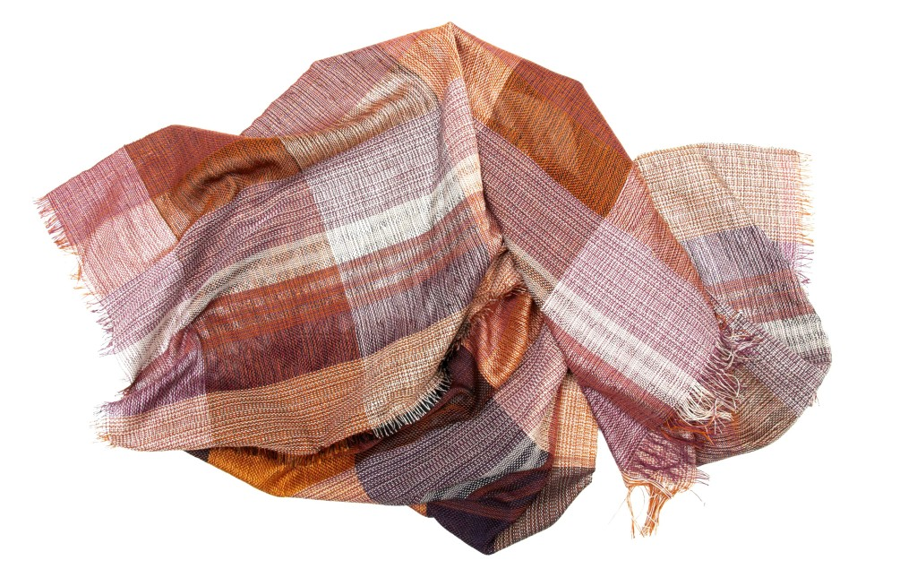 woven plaid cotton scarf
