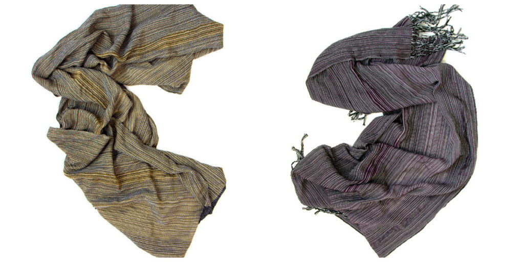 woven cotton scarves